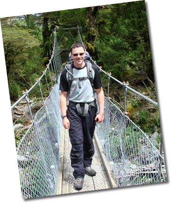 Photo of Paul on the Milford Track - New Zealand